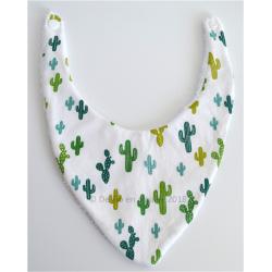 Bavoir bandana cactus 0-6 mois