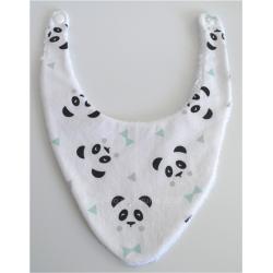 Bavoir bandana panda 0-6 mois